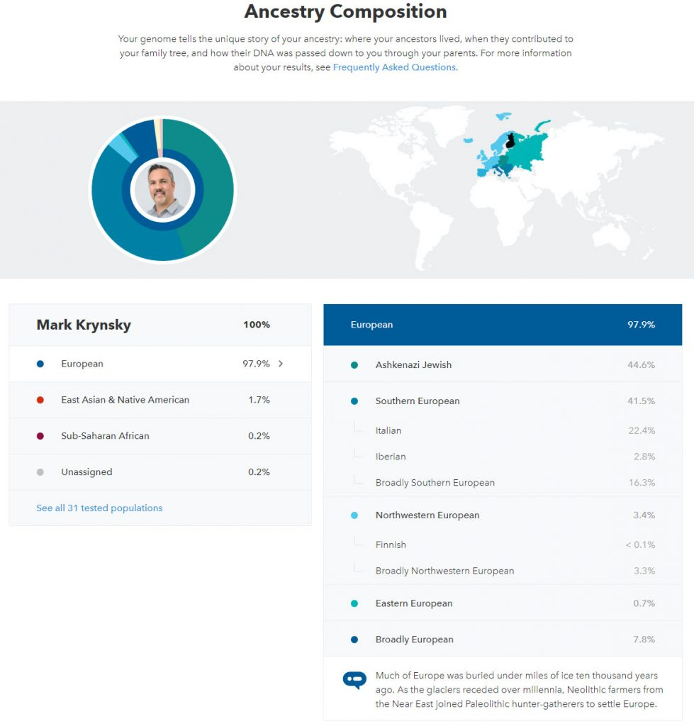23andme Ancestry Report 1