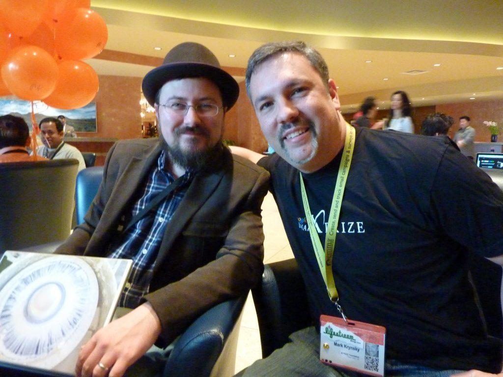 with Marshall Kirkpatrick at SXSW