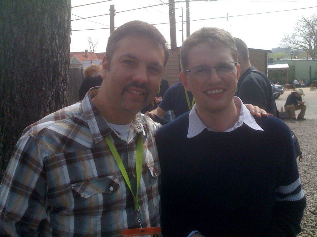 with Matt Mullenwegg at SXSW 2009